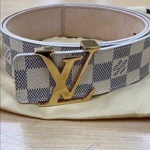 Louis Vuitton Daniel Azur Initiales Belt